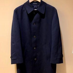 Eaton Navy Blue Wool Overcoat/ Top Coat